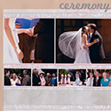 Wedding Ceremony Scrapbook Page