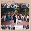 Wedding Guests Scrapbook Page