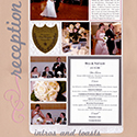 Wedding Reception Scrapbook Pages