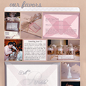 Wedding Favors Scrapbook Page