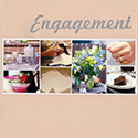 Wedding Scrapbook Engagement Division Page