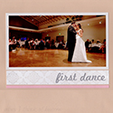 Wedding First Dance Scrapbook Page