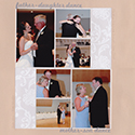 Father-Daughter Mother-Son Dance Wedding Scrapbook Page