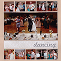 Wedding Reception Dancing Scrapbook Page