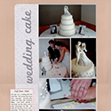 Wedding Cake Scrapbook Page