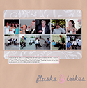 Wedding Shenanigans Scrapbook Page