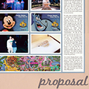 Marriage Proposal Scrapbook Page