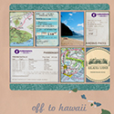 Hawaii Honeymoon Scrapbook Page