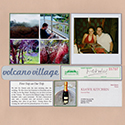 Hawaii Volcano Village Honeymoon Scrapbook Page