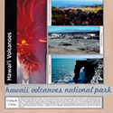 Hawaii Volcanoes National Park Honeymoon Scrapbook Page