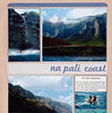 Na Pali Coast Kauai Honeymoon Scrapbook Page