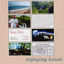 Kauai Honeymoon Scrapbook Page
