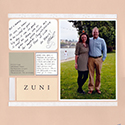 Wedding Anniversary Scrapbook Page