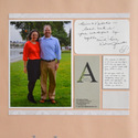 Wedding Anniversary Scrapbook Pages