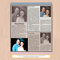 Wedding Engagement Announcements Scrapbook Page