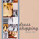 Wedding Dress Shopping Scrapbook Page