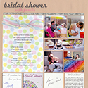 Bridal Shower Scrapbook Pages