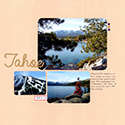 Lake Tahoe Scrapbook Page