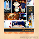 MLB All Star Game Scrapbook Page