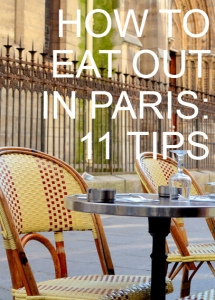 How to Eat Out in Paris