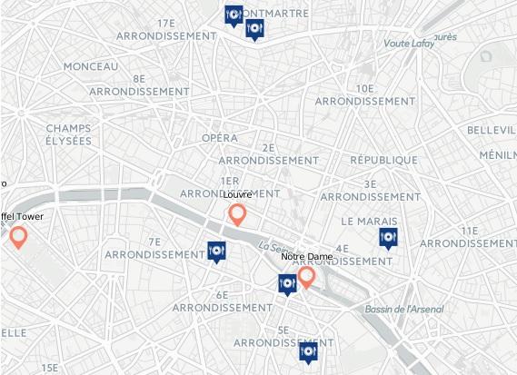 Paris Map by Natalie Parker