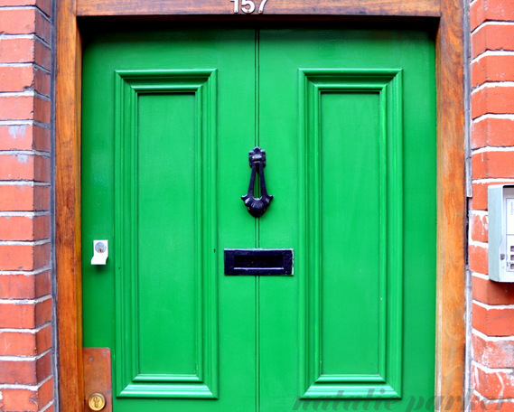 Green Door in Dublin by Natalie Parker