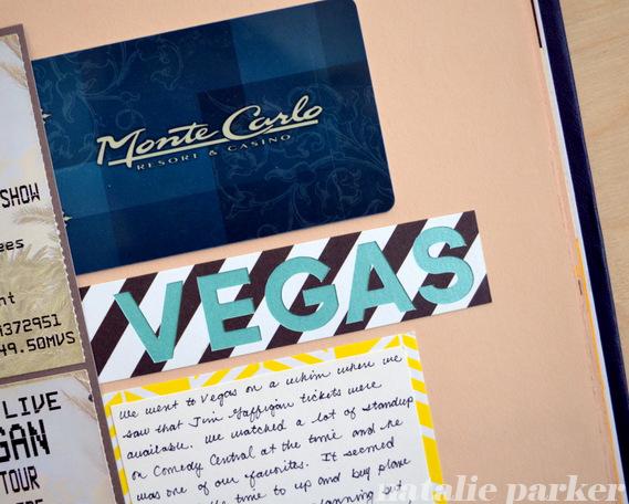 Las Vegas Scrapbook Page by Natalie Parker