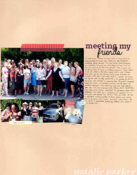 Meeting Friends Scrapbook Layout by Natalie Parker
