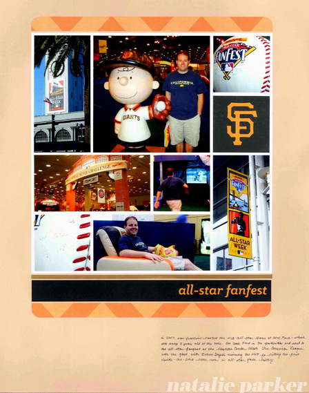 MLB All Star Game Scrapbook Layout by Natalie Parker