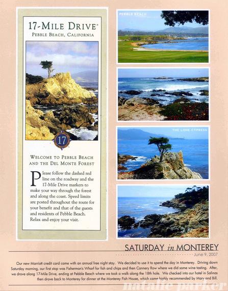 Monterey Scrapbook Layout by Natalie Parker