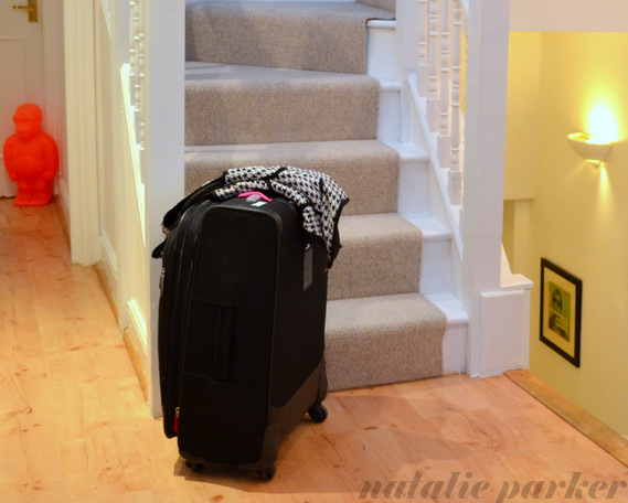 Suitcase in London by Natalie Parker