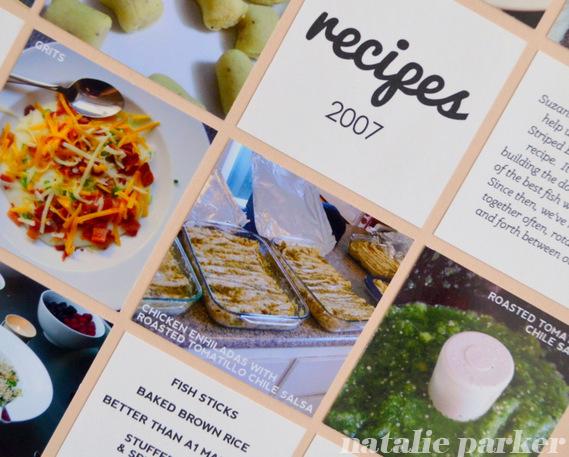 Recipe Scrapbook by Natalie Parker