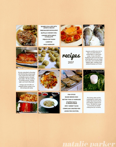 Recipe Scrapbook by Natalie Parker