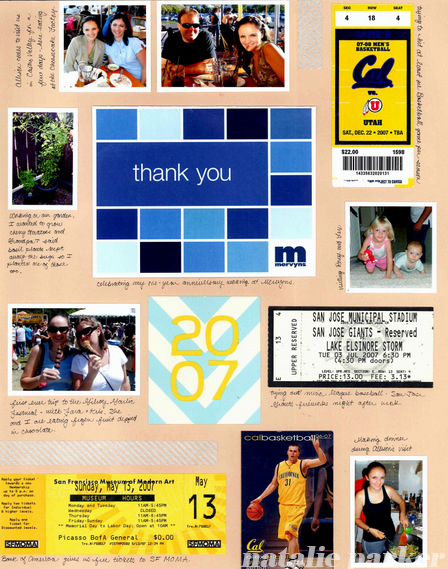Summer Scrapbook Layout by Natalie Parker