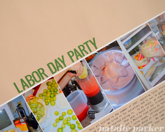 Backyard Party Scrapbook Page by Natalie Parker