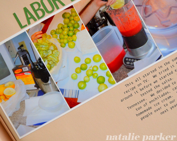Backyard Party Scrapbook Page by Natalie Parker