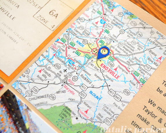 Maps in Scrapbooks by Natalie Parker