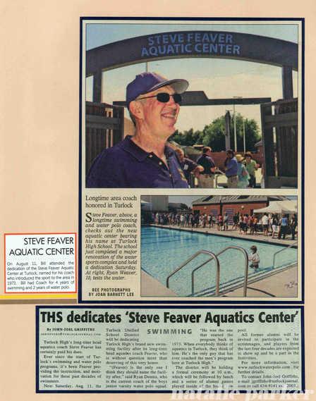 Water Polo Scrapbook Layout by Natalie Parker