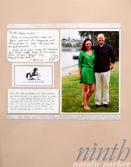 Anniversary Scrapbook Layout By Natalie Parker