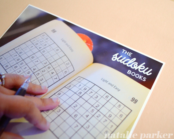 Sudoku Scrapbook Layout by Natalie Parker