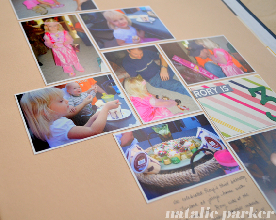 Birthday Scrapbook Layout by Natalie Parke