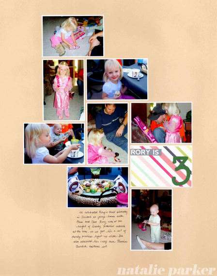 Birthday Scrapbook Layout by Natalie Parker