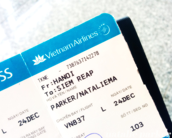 Vietnam Airlines Boarding Pass by Natalie Parker