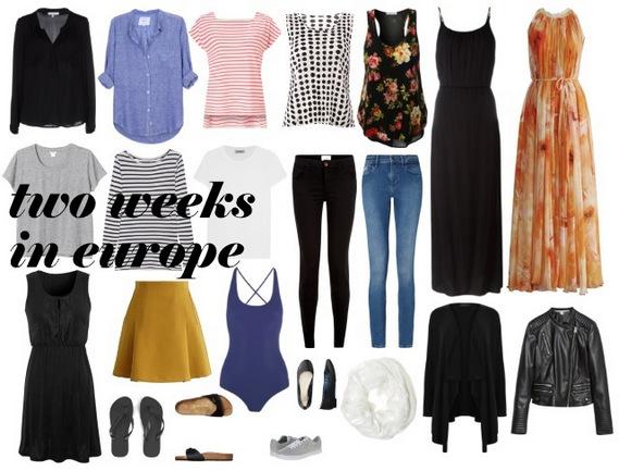 2 Weeks in Europe Packing List by Natalie Parker