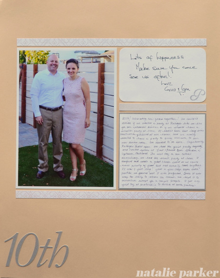 Scrapbook Layout 10th Wedding Anniversary Almost Never Clever